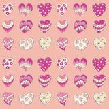 Corações cor-de-rosa Imagem de Stock Royalty Free