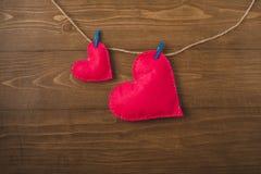 Corações cor-de-rosa Fotos de Stock Royalty Free