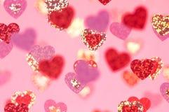 Corações cor-de-rosa abstratos para o dia de Valentim imagem de stock royalty free