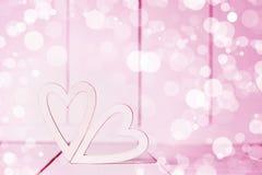 Corações cor-de-rosa do dia de são valentim Fotos de Stock