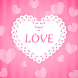 Corações cor-de-rosa do laço do amor ilustração stock