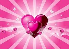 Corações cor-de-rosa do vetor Imagem de Stock Royalty Free