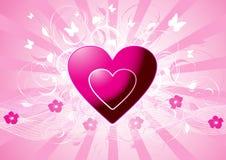 Corações cor-de-rosa do vetor Foto de Stock