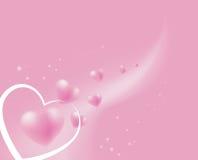 Corações cor-de-rosa macios de flutuação Foto de Stock Royalty Free