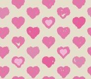 Corações cor-de-rosa sem emenda teste padrão, conceito do dia de Valentim Fotografia de Stock
