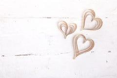 corações Coração-dados forma dos Valentim do St do entalhe Fotos de Stock Royalty Free