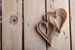 corações Coração-dados forma dos Valentim do St do entalhe Imagens de Stock Royalty Free