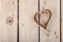 corações Coração-dados forma dos Valentim do St do entalhe Imagem de Stock Royalty Free