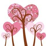 Corações da árvore Imagens de Stock