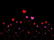 Corações da árvore Foto de Stock