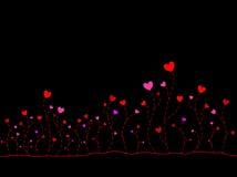 Corações da árvore Imagem de Stock
