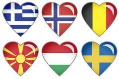 Corações da bandeira Foto de Stock Royalty Free