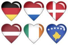 Corações da bandeira Imagem de Stock Royalty Free