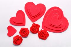Corações da camada Foto de Stock Royalty Free
