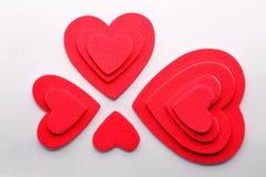 Corações da camada Fotografia de Stock