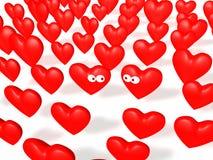 Corações da conexão Imagem de Stock