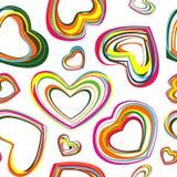 Corações da cor ilustração royalty free