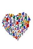 Corações da cor Imagens de Stock Royalty Free
