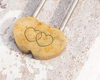 Corações da fôrma do cadeado Foto de Stock