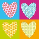 corações da flor ilustração stock