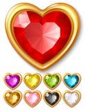 Corações da jóia do vetor Fotografia de Stock