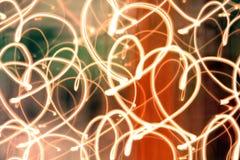 Corações da luz Fotografia de Stock