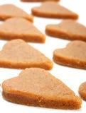 Corações da massa de pão Imagens de Stock