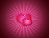 Corações da potência fotografia de stock