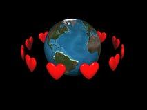 Corações de órbita Ilustração Royalty Free