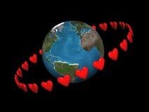 Corações de órbita Ilustração Stock