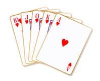 Corações de Ace em nível Foto de Stock Royalty Free