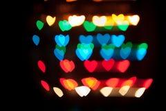 Corações de Bokeh Imagens de Stock Royalty Free