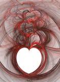 Corações de flutuação Fotos de Stock