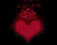 Corações de fluxo Fotografia de Stock Royalty Free