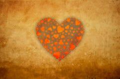 Corações de Grunge Foto de Stock Royalty Free