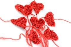 Corações de lãs de Meny no branco Foto de Stock