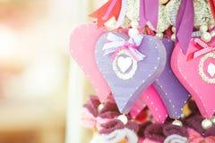 Corações de madeira Fotografia de Stock Royalty Free