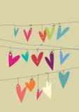 Corações de papel Imagem de Stock Royalty Free