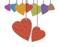 Corações de papel foto de stock