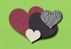 Corações de papel Imagem de Stock