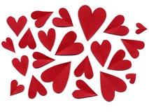 Corações de papel Fotografia de Stock Royalty Free