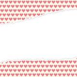 Corações de papel abertos rasgados Fotografia de Stock