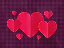 Corações de papel para a celebração do dia do ` s do Valentim Imagens de Stock