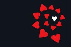 Corações de papel vermelhos Fotos de Stock Royalty Free