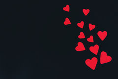 Corações de papel vermelhos Fotos de Stock