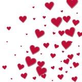 Corações de papel vermelhos do entalhe Foto de Stock Royalty Free