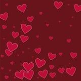 Corações de papel vermelhos do entalhe Fotografia de Stock Royalty Free