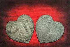 Corações de pedra Imagem de Stock Royalty Free