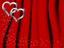 Corações de prata Imagens de Stock