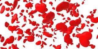 Corações de queda Fotografia de Stock